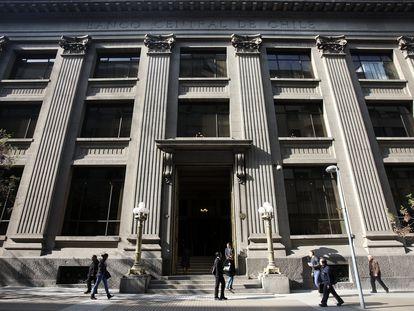 Vista geral do Banco Central do Chile, em Santiago.