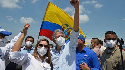 Guillermo Lasso, durante a campanha eleitoral.