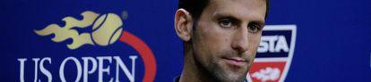Djokovic, durante uma coletiva de imprensa.
