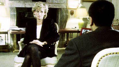 A princesa Diana em sua entrevista a Martin Bashir para o programa 'Panorama', da BBC, em 1995.