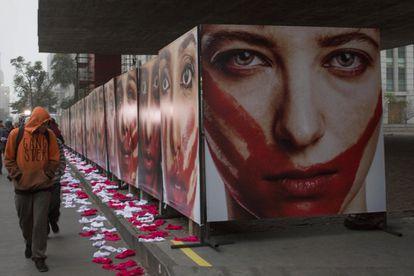 ONG Rio de Paz fez manifestação no Museu de Arte de São Paulo (MASP), em 2019, contra estupros.