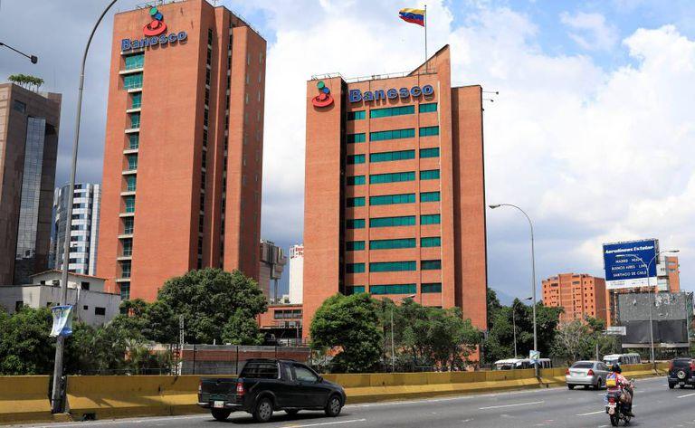 A sede de Banesco em Caracas.