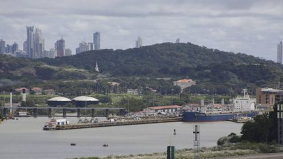 Vista do porto da Cidade do Panamá na segunda-feira.