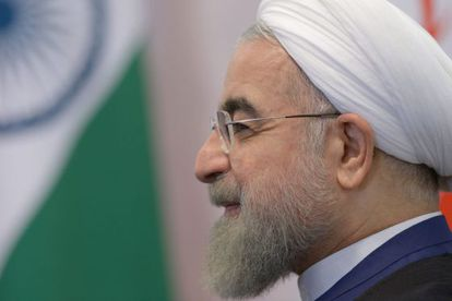 O presidente iraniano, Hassan Rouhani, na cúpula dos Brics, em Ufá, Rússia, em 9 de julho.