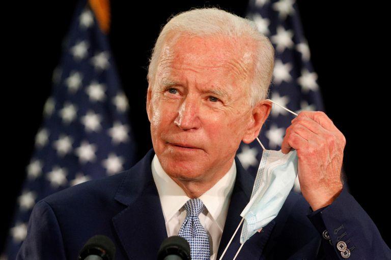 Joe Biden, em um ato de campanha na Universidade Estadual de Delaware, em Dover, na sexta-feira.