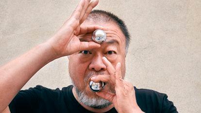 O artista Ai Weiwei, em Lisboa.