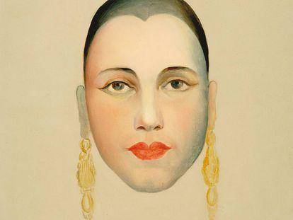 Auto-retrato de Tasila do Amaral.
