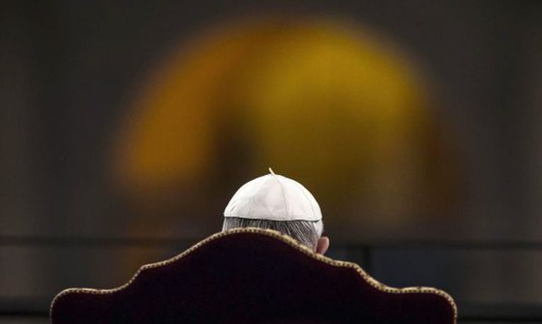 O Papa, nesta sexta-feira Santa em Roma.