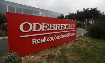 Fachada de uma das empresas do grupo Odebrecht, no Rio de Janeiro.