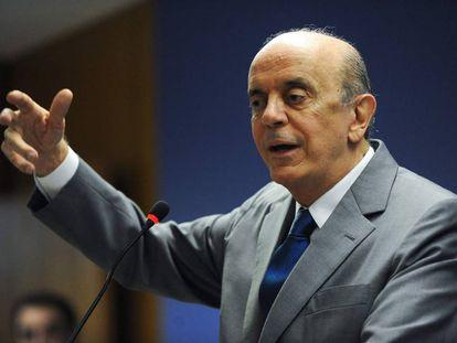 O ministro José Serra, nesta quarta-feira.