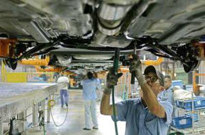 Planta de uma fábrica automobilística em São Paulo.