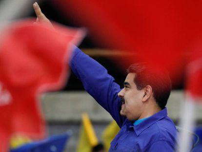 O presidente da Venezuela, Nicolás Maduro, em evento com simpatizantes em Caracas.
