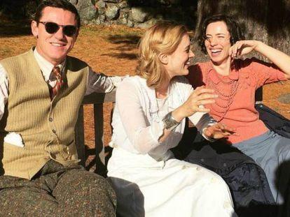 O trio protagonista do filme 'Professor Marston & the wonder women'.