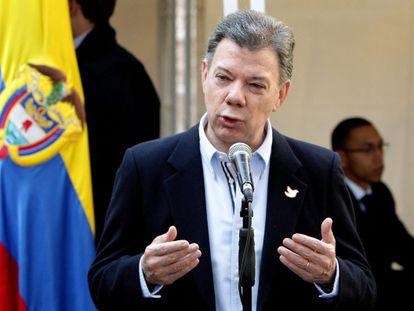 Juan Manuel Santos após as eleições.