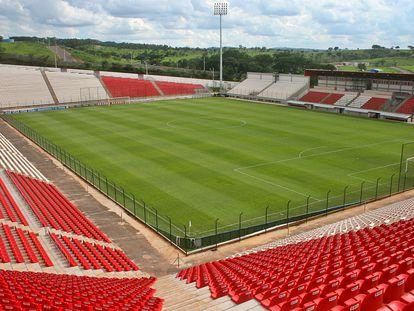 """Arena do Jacaré, estádio do Democrata, que exige respaldo aos """"clubes invisíveis""""."""