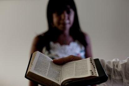 Uma das mulheres que denunciaram o pastor evangélico por estupro no Recife.