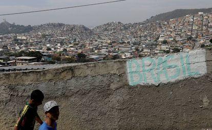 Imagem da comunidade da Chatuba, no Rio de Janeiro, em julho deste ano.