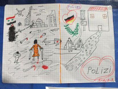 O desenho de um menino sírio que deixou a polícia alemã sem palavras
