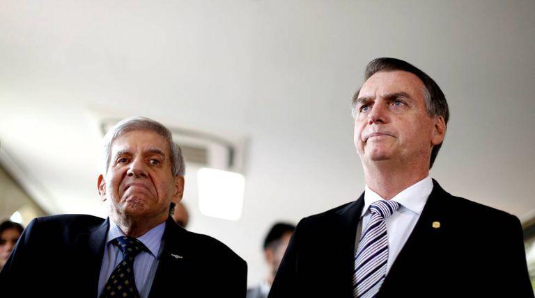Heleno e Bolsonaro, no dia 7,em Brasília.