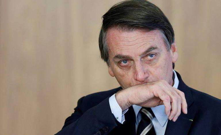 O presidente Bolsonaro no último dia 8, no Palácio do Planalto.
