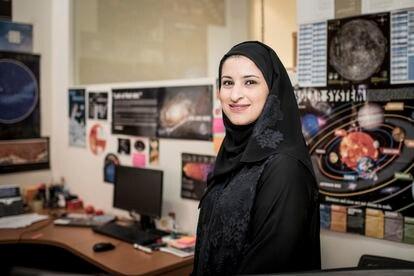 Sarah Al Amiri, presidenta da Agência Espacial do país e ministra de Ciências Avançadas.