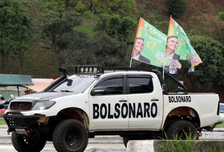 Apoiador do candidato Jair Bolsonaro em São Paulo.