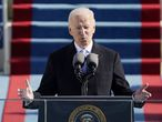 Joe Biden, tras tomar posesión como presidente de EEUU, este miércoles en Washington.
