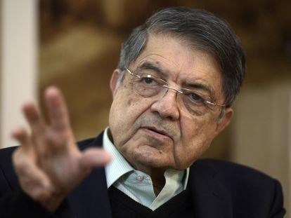 O escritor nicaraguense Sergio Ramírez, durante uma entrevista na Cidade do México. Em vídeo, Ramírez reage às acusações do Governo do seu país.