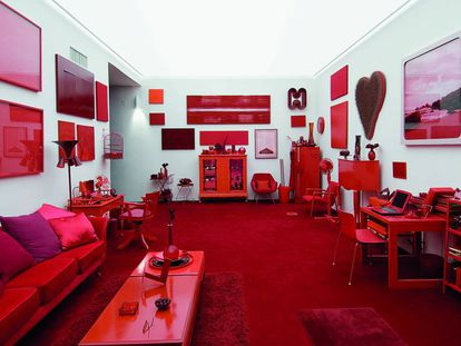 Desvio para o vermelho (1967-1984), obra de Cildo Meireles exibida permanentemente no Instituto Inhotim.