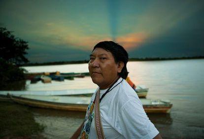 Davi Kopenawa Yanomami, em Roraima.