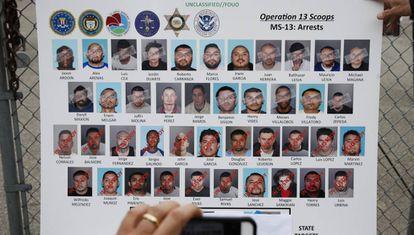 Os alvos da operação do FBI em Los Angeles.