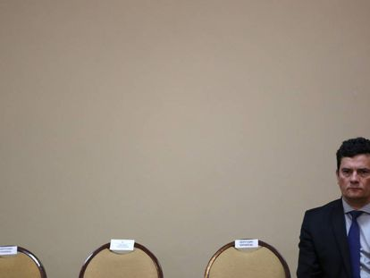 O ministro Sergio Moro, em Manaus, nesta segunda-feira.