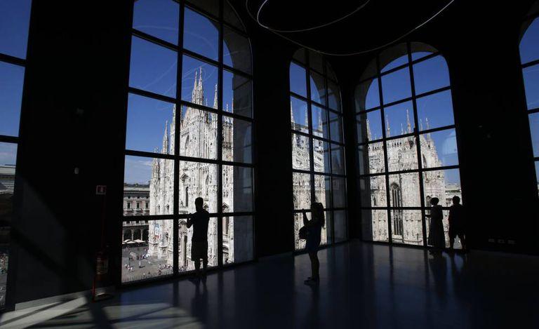 Visão do Duomo a partir do Museu de Arte de Milão.