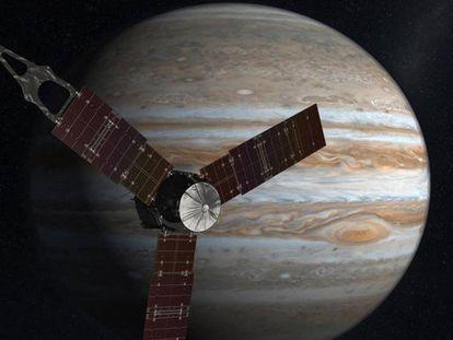 A sonda espacial 'Juno', da Nasa, entra em uma órbita de Júpiter.