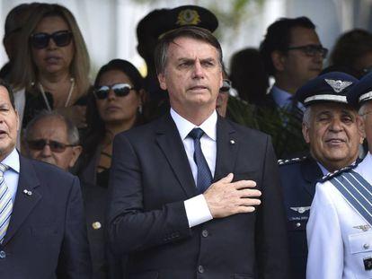 Bolsonaro durante um ato militar em setembro do ano passado.