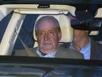Juan Carlos I, en enero pasado, cuando acudió al hospital para visitar a su sobrina Simoneta Gómez Acebo.