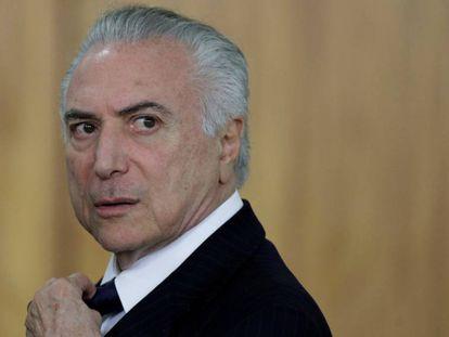 O presidente Michel Temer, em Brasília.