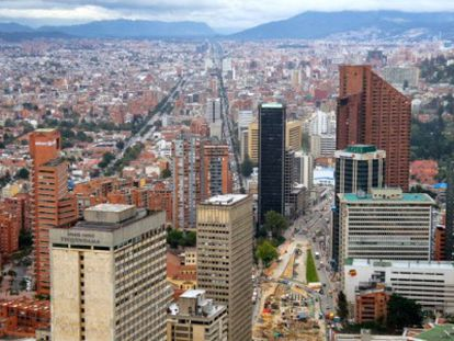 Vista da cidade de Bogotá.