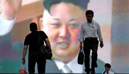 Kim Jong-un celebrou o lançamento do míssil Hwasong-14.