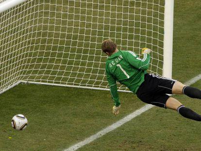 Gol 'fantasma' da Inglaterra contra a Alemanha, na Copa do Mundo de 2010.