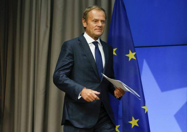 Donald Tusk, após a reunião do Conselho Europeu.