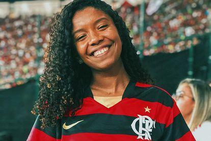 Thais Oliveira, torcedora do Flamengo.