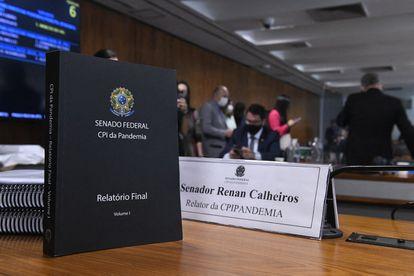 Relatório da CPI da Pandemia apresentado no último dia 20 e que será votado nesta terça.