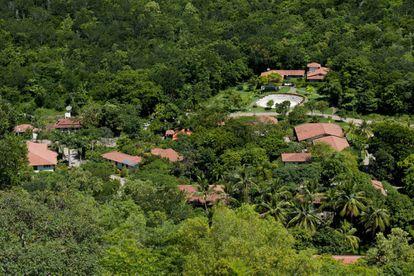 Visão atual da fazenda de Sebastião Salgado. A transformação da paisagem aconteceu em pouco mais de una década.