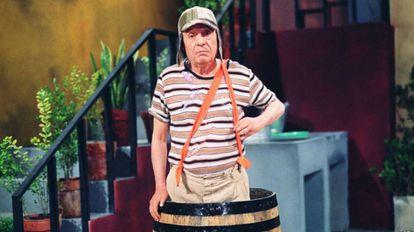 O ator Roberto Gómez Bolaños como 'Chaves', exibido há mais de 30 anos pelo SBT no Brasil.