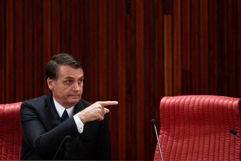 O presidente eleito Jair Bolsonaro, durante cerimônia de diplomação no TSE no último dia 10, em Brasília.