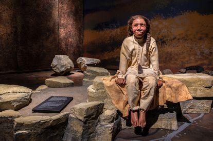 Exposição sobre neandertais no museu de Moesgaard, na Dinamarca. Moesgaard Museum