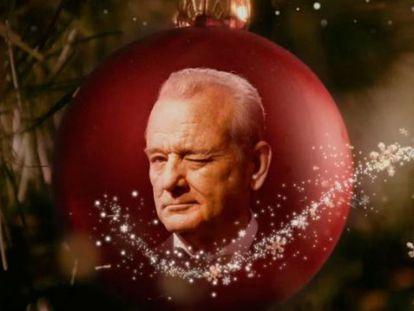Imagem do vídeo promocional do especial natalino estrelado por Bill Murray.