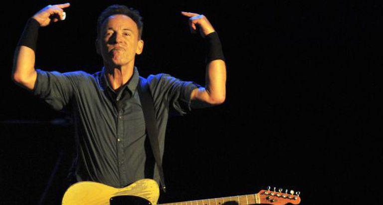 Bruce Springsteen durante um show no Chile, em setembro de 2013.