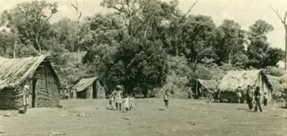 Indígenas avá-guarani na Aldeia Ocoy.